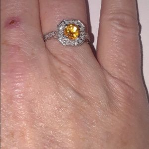 Jewelry - BEAUTIFUL CITRINE AND DIAMOND RING